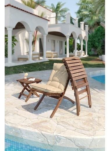 Meya Dekor Minderli Bahçe Balkon 2+1 Katlanabilir Masa Sandalye Seti Renkli